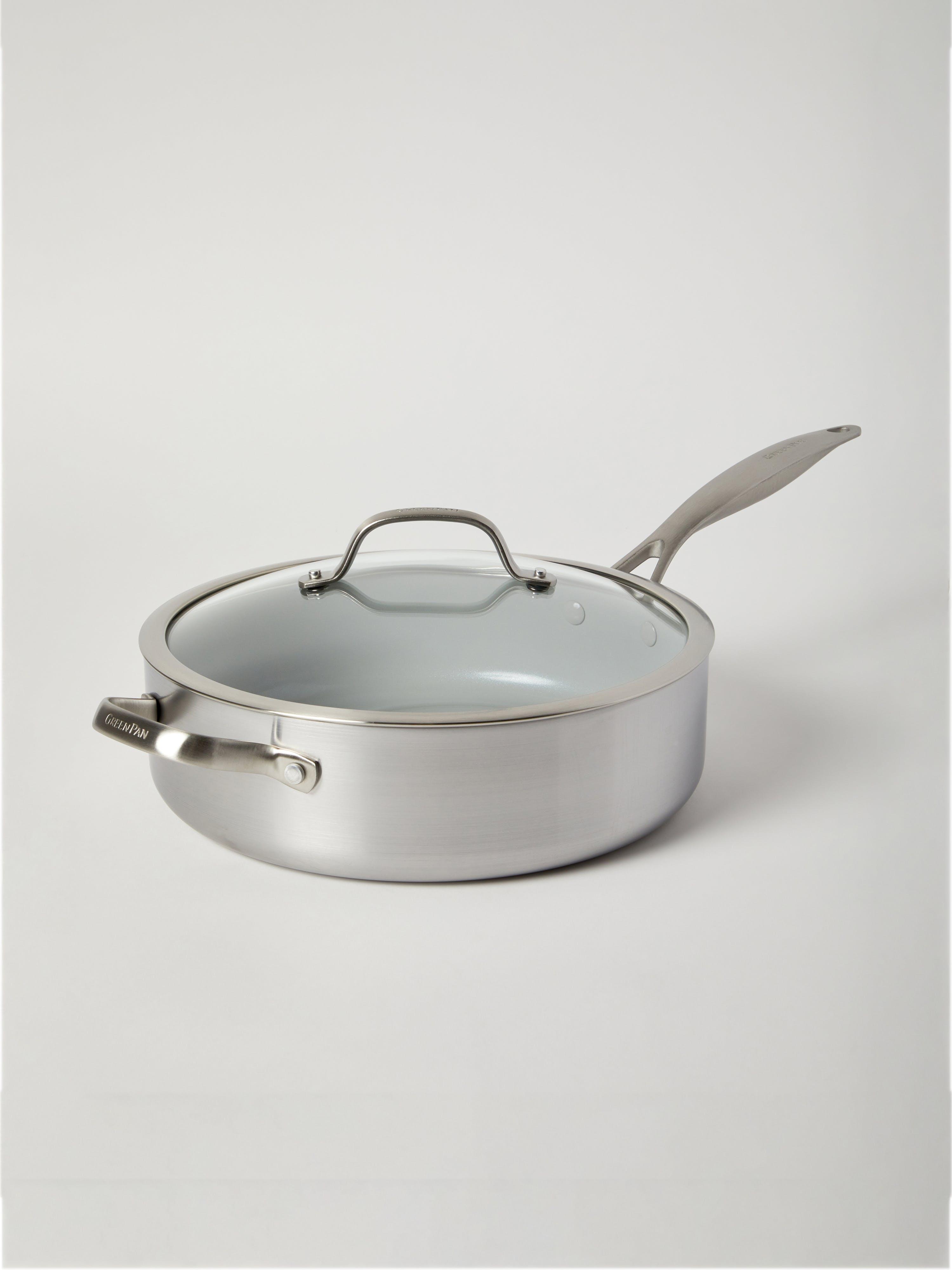 Greenpan Venice Pro 5-Quart Ceramic Non-Stick Sauté Pan  - Grey