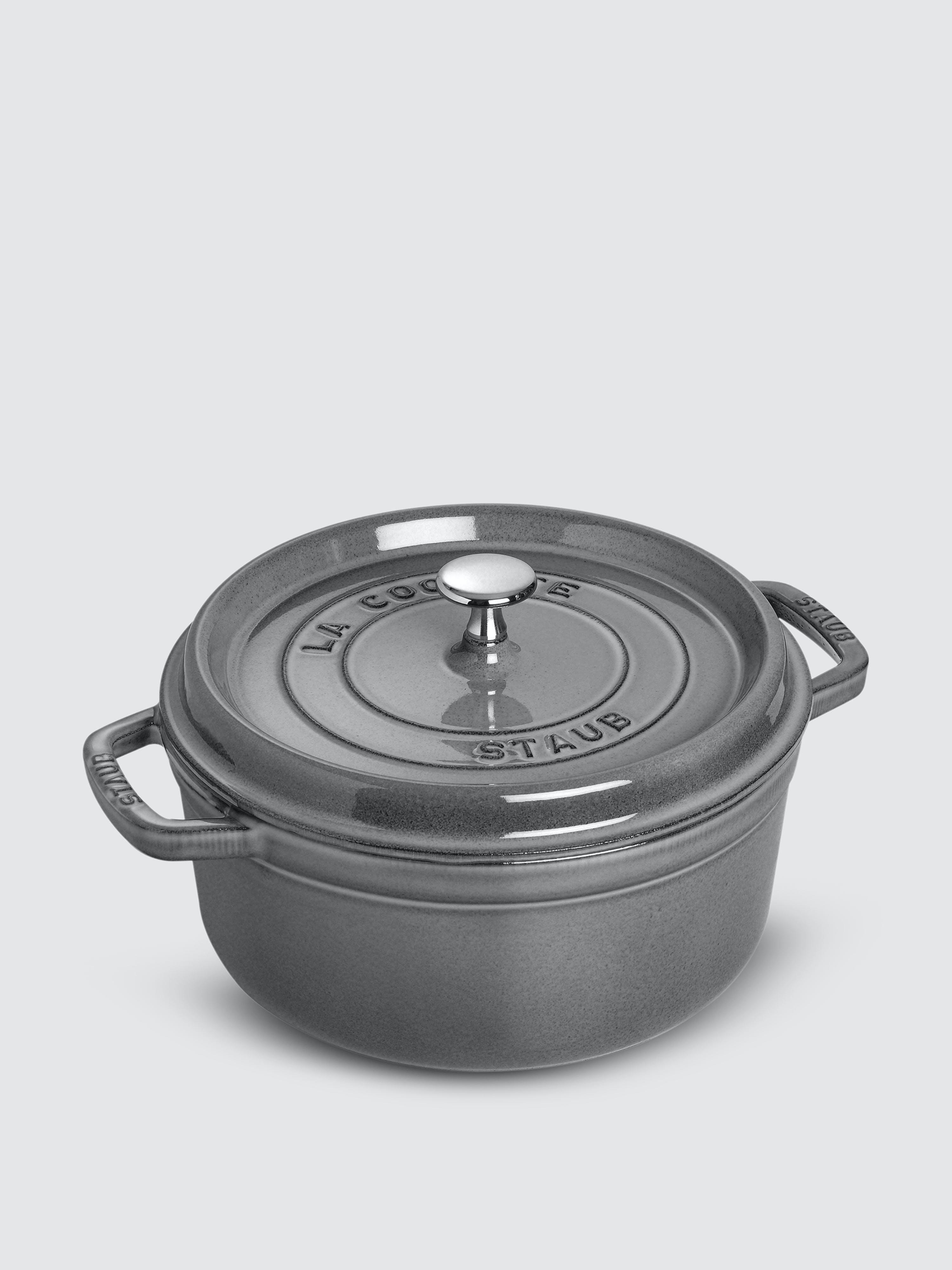 Staub - Verified Partner 4-Qt Round Cocotte  - Grey