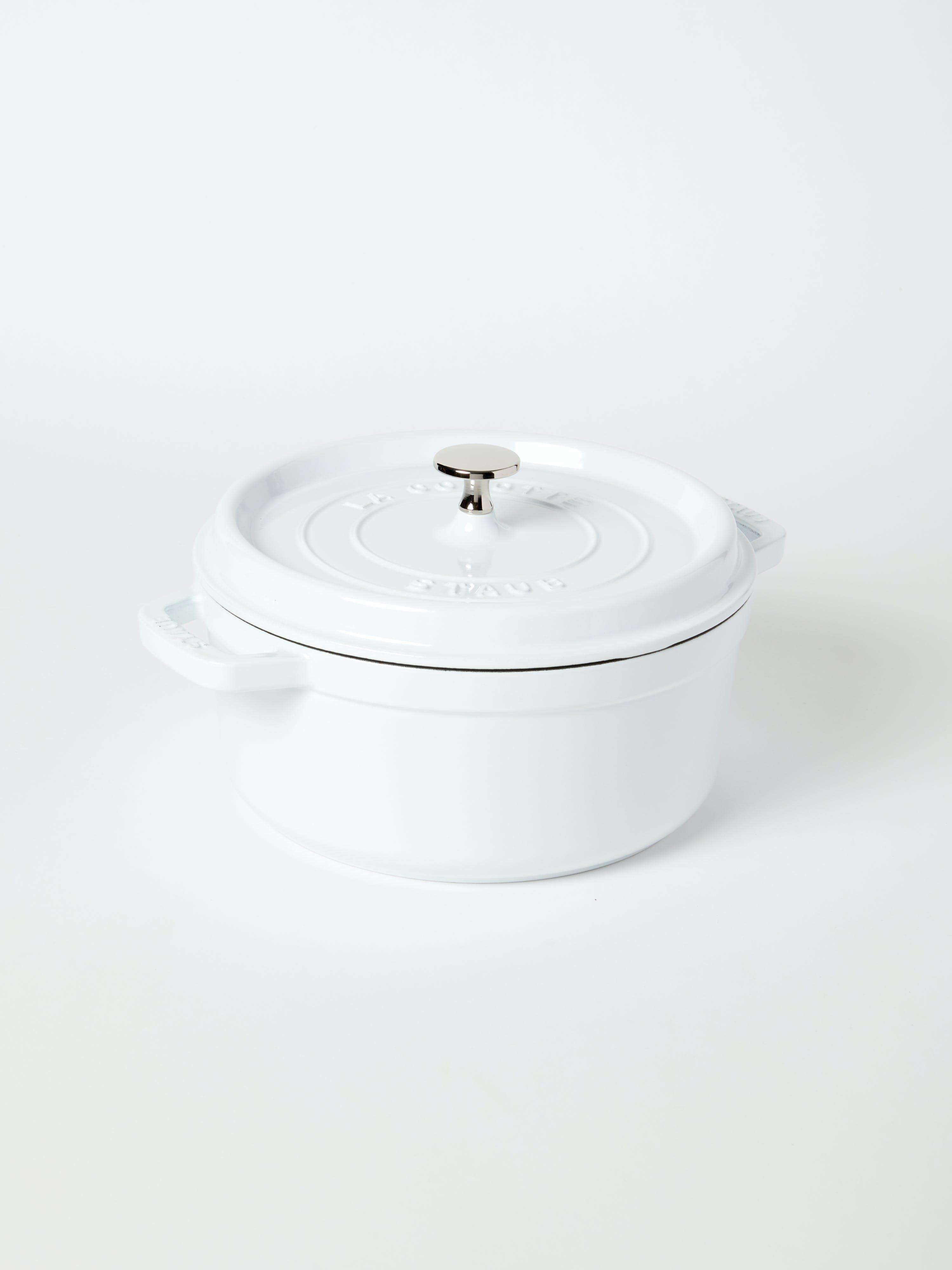 Staub - Verified Partner 4-Qt Round Cocotte  - White