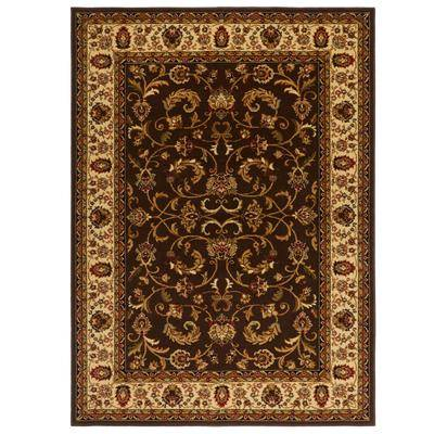 """Home Dynamix """"Royalty Rug, Size 7'8"""""""" x 10'4"""""""" in Brown/Ivory by Home Dynamix"""""""