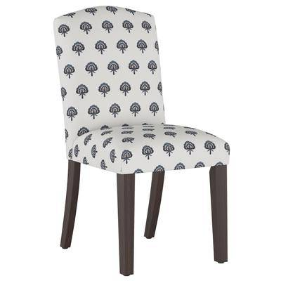 Skyline Furniture Block Paisley Back Dining Chair in Navy by Skyline Furniture