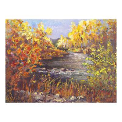 BrylaneHome River Rapture Outdoor Canvas Art by BrylaneHome