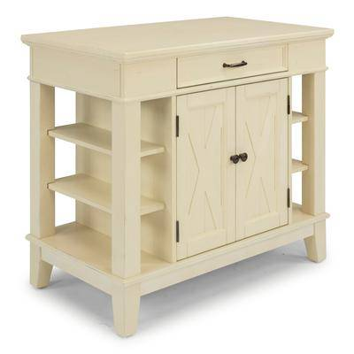 Home Styles Seaside Lodge Kitchen Island in White by Home Styles