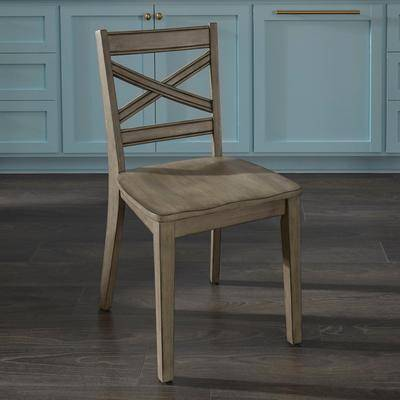 Home Styles Mountain Lodge Pair of Dining Chairs in Gray by Home Styles