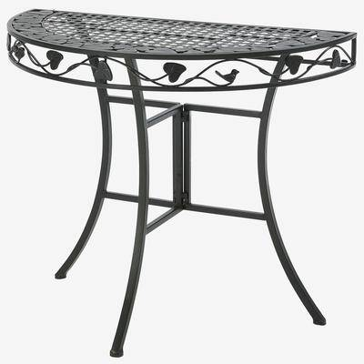 BrylaneHome Ivy League Multi-Use 2 Half Round Table in Brown by BrylaneHome