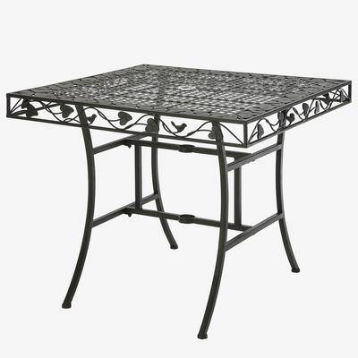 BrylaneHome Ivy League Square Dining Table in Brown by BrylaneHome
