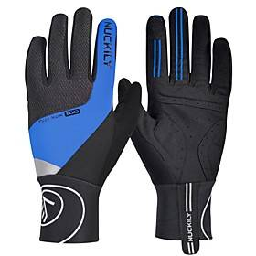 Nuckily Winter Bike Gloves / Cycling Gloves Mountain Bike Gloves Mountain Bike MTB Thermal / Warm Breathable Anti-Slip Sweat-wicking Full Finger Gloves Sports