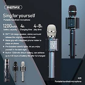 remax rui liang k05 microphone portable mini wireless bluetooth mobile phone k song microphone speaker integrated