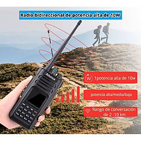 Factory Outlet HD1 DMR Handheld / Digital Waterproof / GPS / VOX 5KM-10KM 5KM-10KM 3000 3200 mAh 10 W Walkie Talkie Two Way Radio