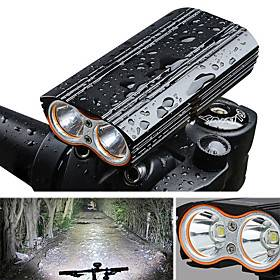 LED Bike Light Front Bike Light Headlight Bicycle Cycling Waterproof Portable Quick Release 2000 lm Rechargeable USB Camping / Hiking / Caving Cycling / Bike