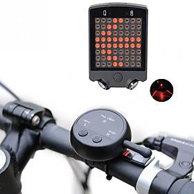 Laser LED Bike Light Turn Signal Light Rear Bike Tail Light Safety Light LED Mountain Bike MTB Bicycle Cycling Waterproof Multiple Modes Super Brightest Remote