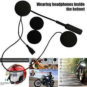 1 Pcs BT8  Motorcycle Helmet Headset Bluetooth Stereo Handsfree Calling Music Earpiece DQ-Drop Motorcycle Intercom Headset Wireless Helmet Heaphones