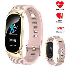 696 QW16 Unisex Smart Wristbands Bluetooth Waterproof Heart Rate Monitor Blood Pressure Measurement Sports Information Pedometer Call Reminder Activity Tracker