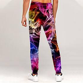 Men's Novelty Casual / Sporty Outdoor Sports Casual Daily Sweatpants Trousers Pants Graphic 3D Full Length Print Rainbow