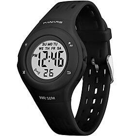SYNOKE Digital Watch Digital Sporty Stylish Outdoor Water Resistant / Waterproof Digital Black Purple Pink / Silicone / Calendar / date / day / LCD / Noctiluce