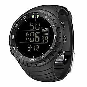 mens watches,waterproof military outdoor sport watch men fashion led digital electronic wristwatch black