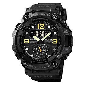 SKMEI Men's Sport Watch Digital Modern Style Sporty Outdoor Calendar / date / day Analog - Digital BlackGrey Black Blue / One Year / Silicone