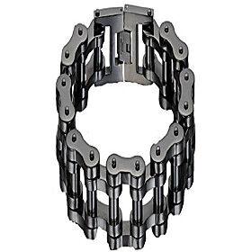 men's black rhodium plated stainless steel motorcycle bike link chain bracelet wide 19 mm (8''