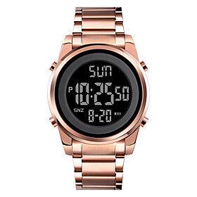 SKMEI Men's Sport Watch Digital Modern Style Stylish Outdoor Calendar / date / day Digital Rose Gold Black Gold / One Year / Stainless Steel