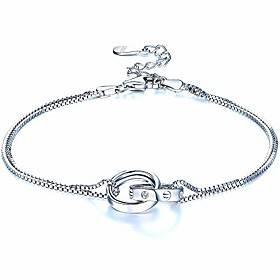 women bracelet silver circle bracelet interlocking infinity bracelets for women best anniversary birthday jewellery gift
