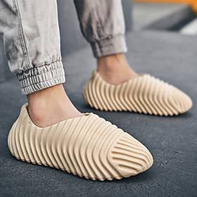 Men's Loafers  Slip-Ons Casual Daily Home Walking Shoes PVC White Beige Gray Spring Fall
