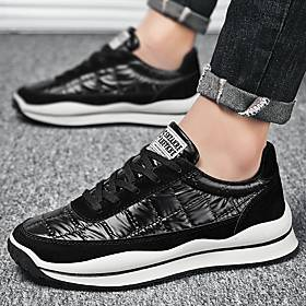 Men's Trainers Athletic Shoes Casual Daily Outdoor Running Shoes Walking Shoes Nappa Leather Black Silver Summer