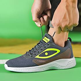 Men's Trainers Athletic Shoes Casual Daily Outdoor Running Shoes Fitness  Cross Training Shoes Mesh Breathable Shock Absorbing White Black Green Spring