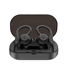 LITBest BE1018 TWS Earbuds Sports Outdoor Fitness Swimming Earphones Wireless Bluetooth 5.0 Stereo with 2 Pairs of Shark Fin Pieces 1 Pair of Earhooks IPX7 Wat