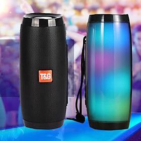 Portable Speakers Bluetooth Column Wireless Bluetooth Speaker Powerful High BoomBox Outdoor Bass HIFI TF FM Radio with LED Light