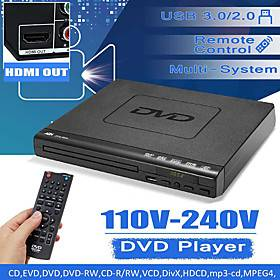 Portable Dvd Player Evd Player Multifunctional Dvd Player Multi-angle Viewing And Zooming Enjoyable Favorite Movies Plug