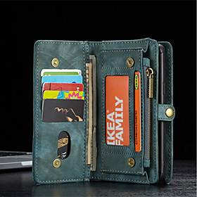 Samsung CaseMe Leather Protective Wallet with Removable Magnetic Closure Cell Phone Cover Many Compartments 11 Card Pockets Zippered Coin Pocket Samsung S7 S7EDGE S8 S