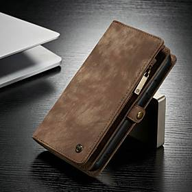CaseMe Leather Wallet Case For Apple iPhone 12 11 Pro Max SE2020 Multifunction Magnetic Flip Folio Phone Case Vintage Protective Case with Card Holder for iPho