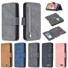 Apple Case For Apple iPhone SE 2020 Wallet Card Holder with Stand Full Body Cases Solid Colored PU Leather iPhone 11 Pro Max XR XS Max X 7 8 Plus 6 6s Plus