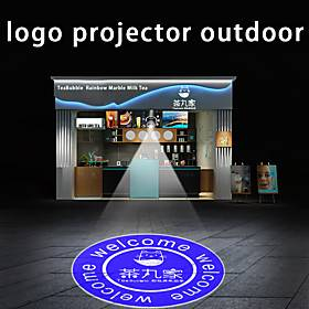 high-power advertising logo projection lamp customized remote control rotary waterproof outdoor door head