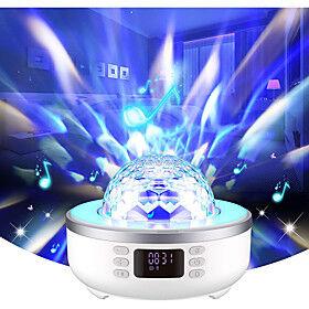 sky star projector star instrument bluetooth speaker bedroom nightlight bluetooth speaker with clock and alarm clock