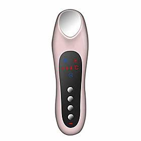 facial massager, electric portable hot and cold beauty instrument home facial massager with led display skin rejuvenation machine,rosegold