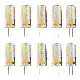 10pcs 3 W LED Bi-pin Lights 300 lm G4 T 48 LED Beads SMD 3014 Dimmable Warm White White 12-24 V