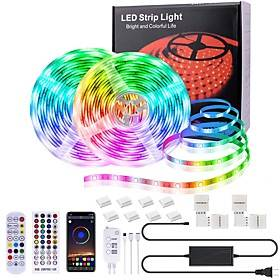 Led Strip Lights Music Sync Bluetooth 32.8 Feet SMD5050 10MM Outdoor Led Lights Waterproof 300 LEDs Flexible Led  Strips Color Changing RGB Rope Light with Rem