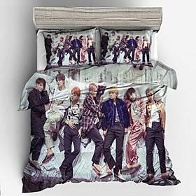 Home Textiles 3D Bedding Set Duvet Cover with Pillowcase 2/3 pcs Bedroom Duvet Cover Sets Bedding BTS