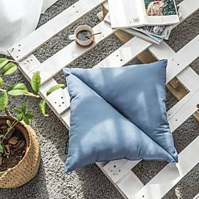Cushion Fashion Innovation Design Opposite Triangle Solid Color Home Office Pillow Living Room Bedroom Sofa Cushion Contain Pillow Core