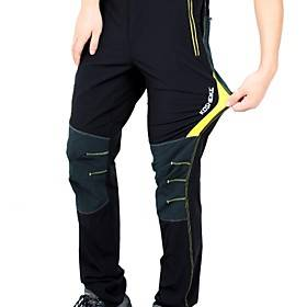 KORAMAN Men's Cycling Pants Bike Pants / Trousers / Bottoms Breathable, Quick Dry Solid Colored Spandex Black / Red / Black / Green / Black / Yellow Road Cycli