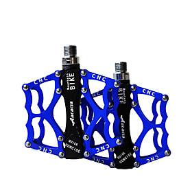 Acacia Mountain Bike Pedals Flat  Platform Pedals Anti-Slip Durable Easy to Install Aluminium Alloy for Cycling Bicycle Road Bike Mountain Bike MTB BMX Blue