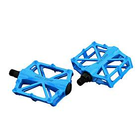 Bike Pedals Flat  Platform Pedals Cycling Durable Easy to Install Carbon Fiber for Cycling Bicycle Road Bike Mountain Bike MTB BMX Red