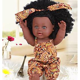KIDDING 12 inch Black Dolls Reborn Doll Girl Doll Baby Girl African Doll lifelike Handmade Cute Kids / Teen with Clothes and Accessories for Girls' Birthday an
