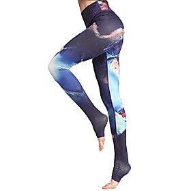 high waist leggings for women floral print leggings breathable exercise yoga pants light jogging sport leggings purple