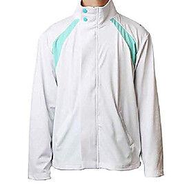 rain haikyuu oikawa cosplay costume aoba johsai student?s casual bright color sports suit uniform, white, x-large