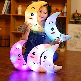 Moon Pillow Stuffed Animals Cute Plush Toys with Music and Light Christmas Gift