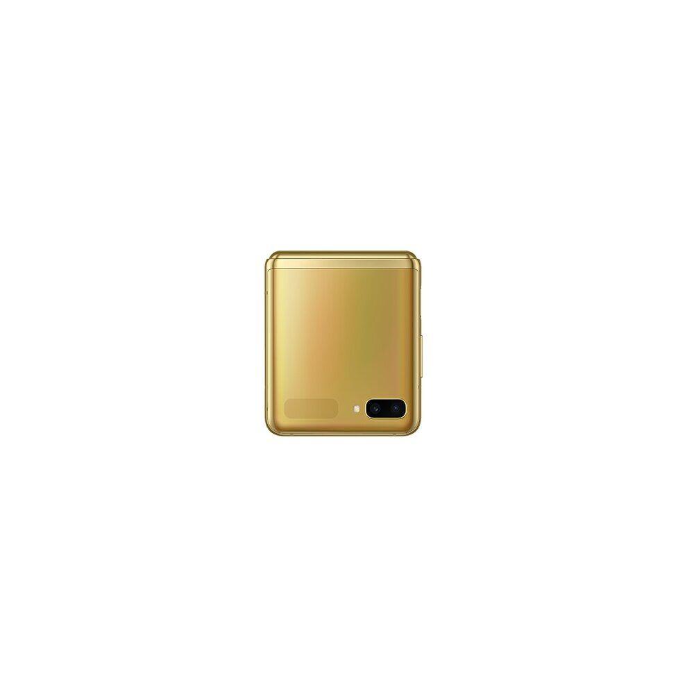 Samsung (Unlocked, Mirror Gold) Samsung Galaxy Z Flip Single & eSim   256GB   8GB RAM
