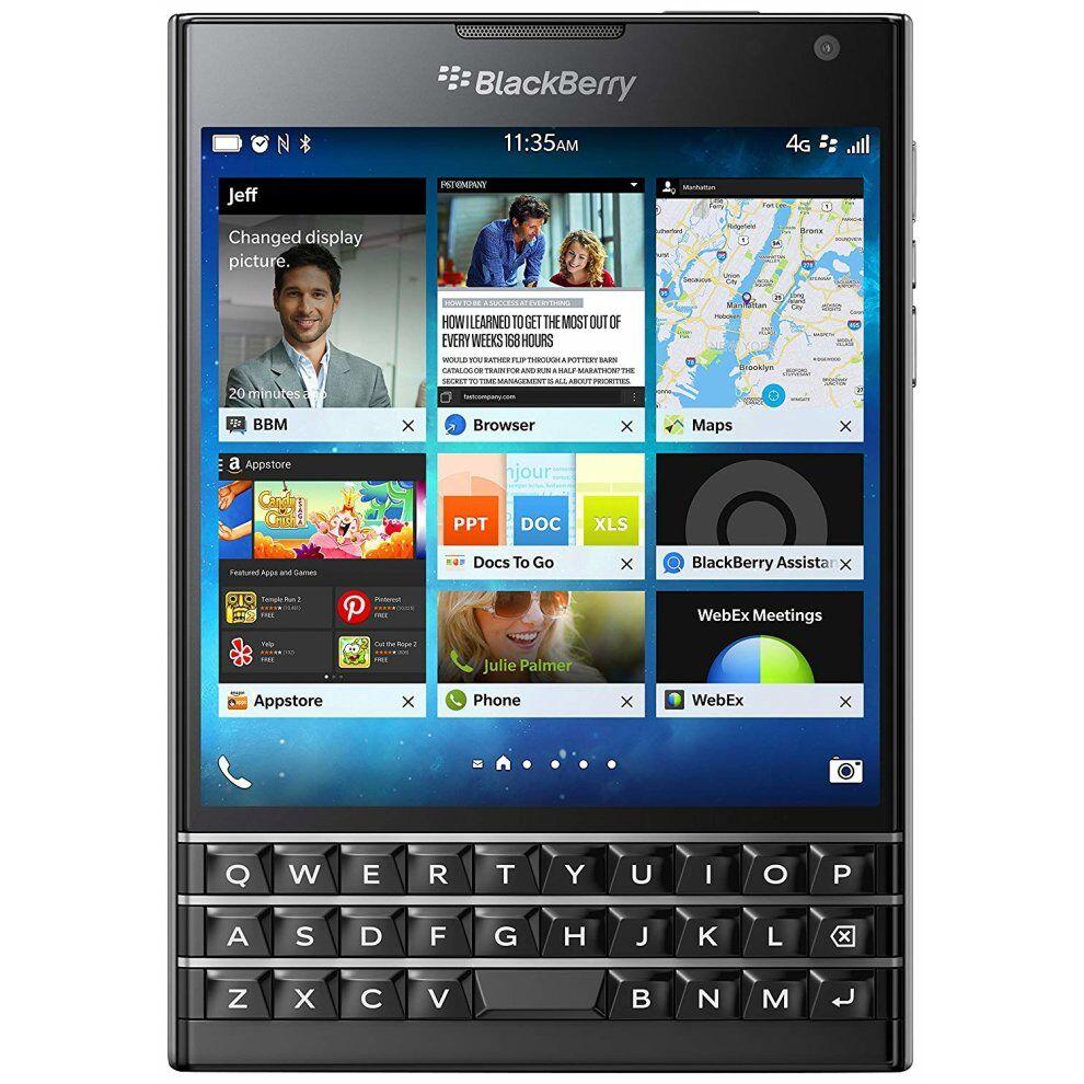 (Unlocked, Black) BlackBerry Passport Single Sim   32GB   3GB RAM