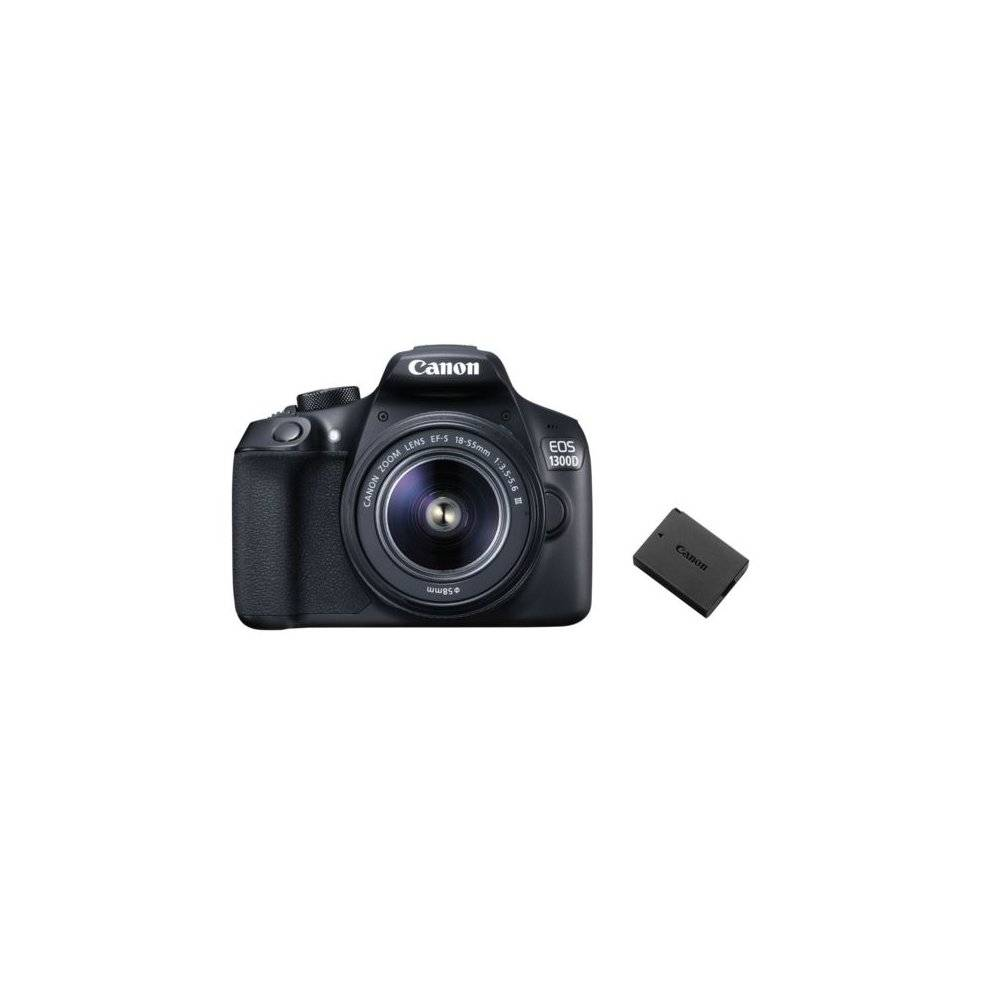 EOS 1300D KIT EF-S 18-55mm F3.5-5.6 III + Canon LP-E10 Battery
